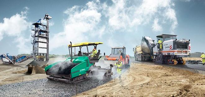 Wirtgen Group con soluciones inteligentes para la construcción de carreteras en Nordbau 2018