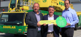 Grúas Aguilar moderniza su parque de maquinaria con siete grúas Liebherr