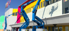 Plataformas híbridas Genie® Z®-60/37 FE en trabajos de pintura en Alemania