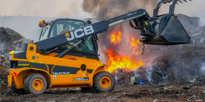 JCB Teletruk como equipo de rescate de emergencia