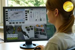CLAAS y su Simulador-Online de maquinaria y tractores cosecha operativo
