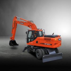 Nueva excavadora de ruedas Doosan de 19 toneladas de alto rendimiento
