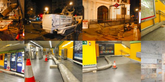 Bombeo de hormigón de Transgruma en el Metro Rubén Dario