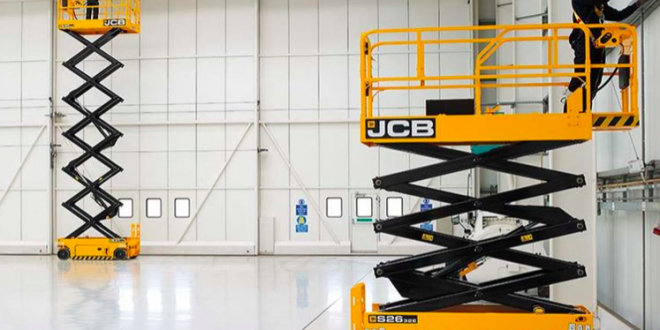 JCB Access exhibe modelos de elevadores de tijera eléctricos en Executive Hire Show