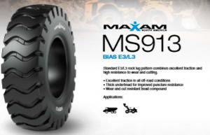 Nuevo neumático MAXAM MS913  para aplicaciones de construcción