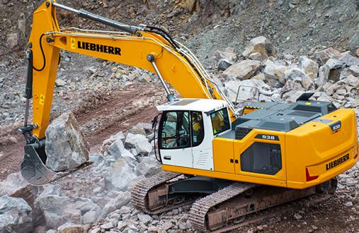Nueva generación de excavadoras sobre cadenas R 934 de Liebherr en Bauma 2019