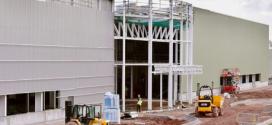 La construcción de la nueva fábrica de JCB Cab Systems