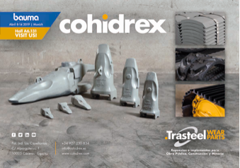 Cohidrex presente en Bauma con su arsenal en material de desgaste