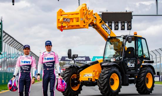 Manipuladoras telescópicas de JCB se estrenan en la primera carrera de F1